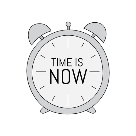 the time is now. Vector hand drawn concept