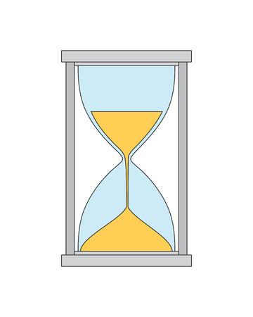 timepieces: Vector hand drawn hourglass. Creative sandglass concept sketch Illustration