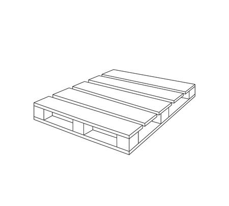 Palette vectorielle en bois Banque d'images - 81477655
