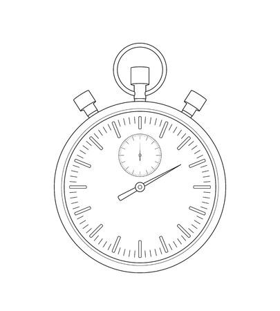 interval: Vector stopwatch sketch