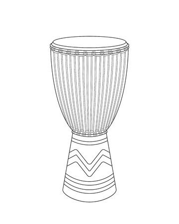 Vector djembe sketch Illustration