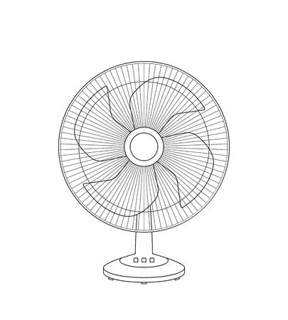 Croquis de fan de vecteur
