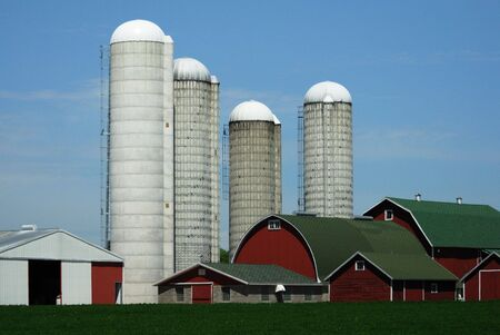 Red Barns and Four Silos