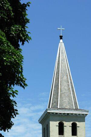 church steeple: Chiesa Steeple da Green Tree
