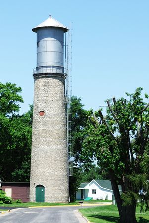 municipal utilities: Old Water Tower by the Street