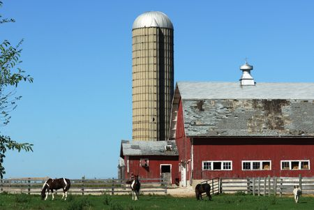 Silo and Old Barn by Four Horses photo