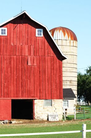 Old Red Barn and Silo photo