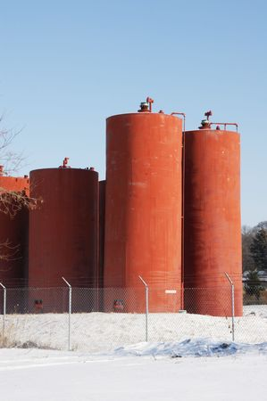 Rusty Tanks at Wastewater Treatment Plant photo