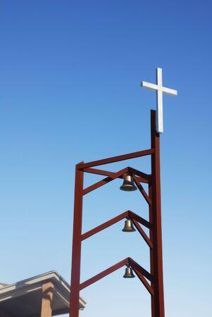 triple: Triple Bell Tower with Cross