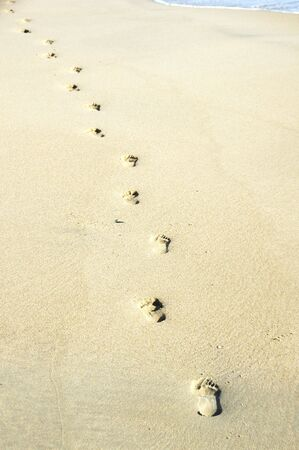 Footprints in the Sand 版權商用圖片