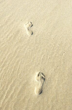 Two Footprints in the Sand