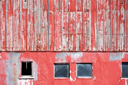 Windows in Old Red Barn photo