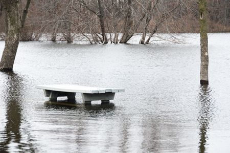 Picnic Table in Flodded Park