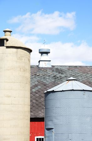 Silo, Bin, and Barn Stock Photo - 4833208