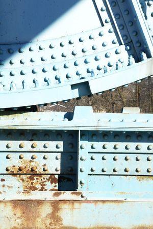 girders: Rivets on Old Bridge Girders