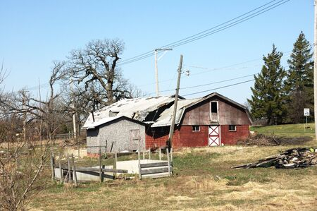 power cables: Old Barn by the Road