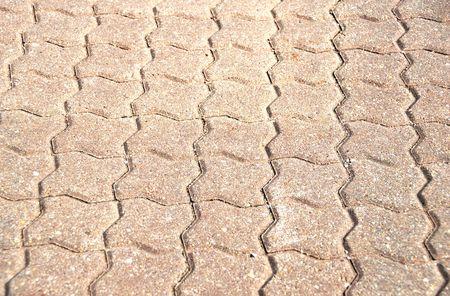 interlocking: Interlocking Brick Sidewalk Stock Photo