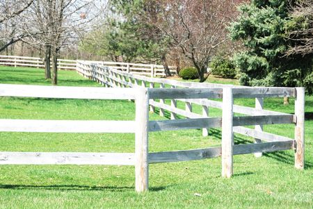 corral: Weathered Corral Fence Stock Photo
