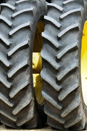 tire tread: Two Tractor Tires