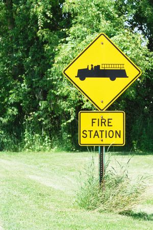 Fire Station Ahead Sign photo