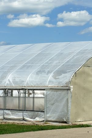 Greenhouse and Blue Sky