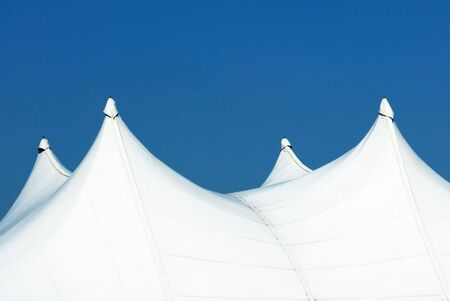 Tops of White Tents