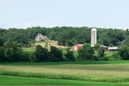 Farm in the Distance Standard-Bild - 6370901