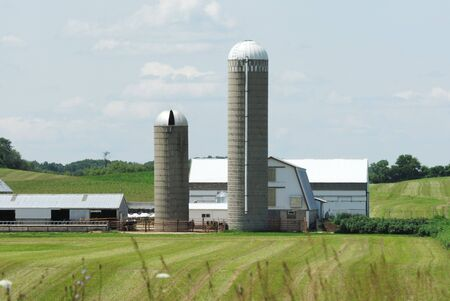 Two Silos, One Very Tall