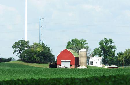 Farm Under Antenna Stock Photo - 6488543