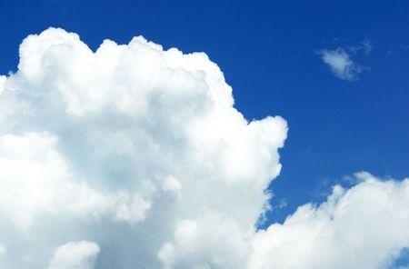 Cumulous Cloud and Blue Sky