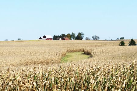 distance: Farm in the Distance Stock Photo