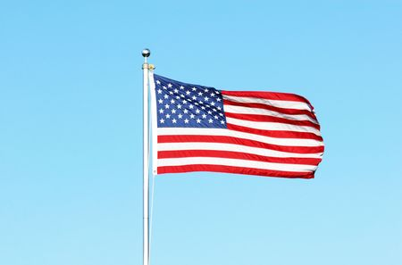 American Flag in the Wind Stock Photo - 6971312