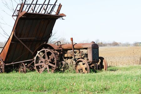 Rusty Tractor and Farm Machinery photo