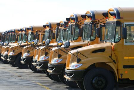 Row of School Buses 版權商用圖片