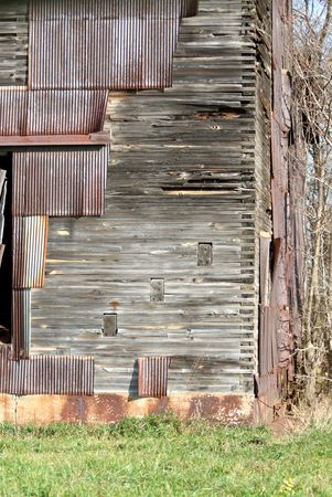dovetail: Corner of Old Barn with Dovetail Joints Stock Photo