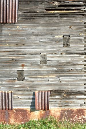 dovetail: Weathered Side of Old Barn