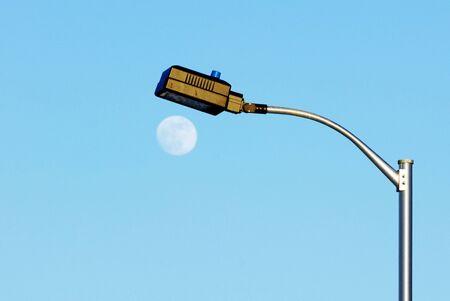 Street Lamp and Moon photo