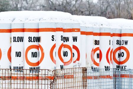 stored: Slow No Wake Signs Stored for Winter
