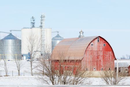 Farm in the Snow Stock Photo - 7374638
