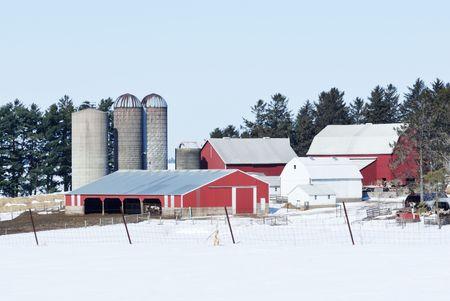 winter: Winter Farm Scene