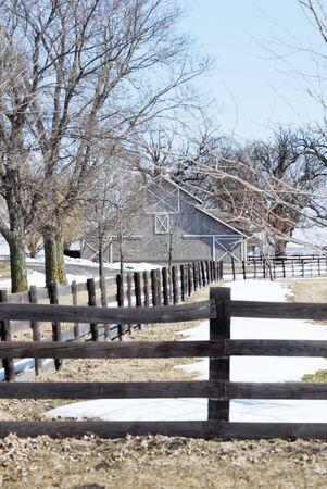 Gray Barn in Winter Stock Photo - 7677792