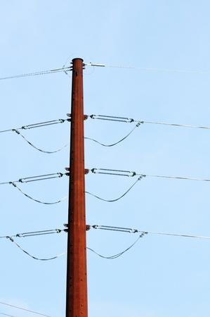 rusting: Rusting Power Pole Stock Photo