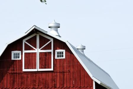 cupolas: End of Barn with Cupolas Stock Photo