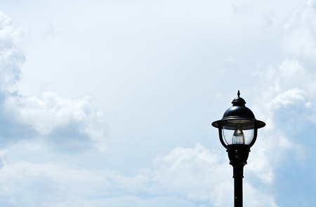 Clouds and Street Light