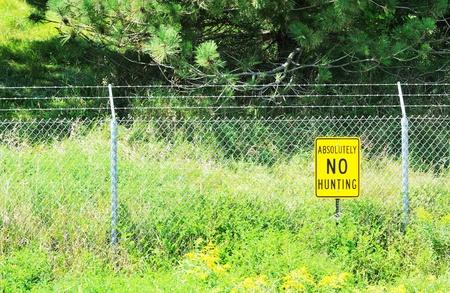 No Hunting Sign Stock Photo - 10399918