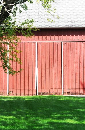 Side of Red Barn Stock Photo - 10691912