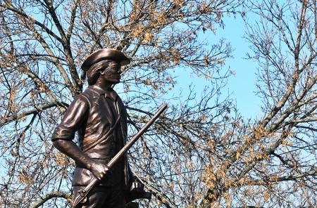 pioneer: Pioneer Statue Stock Photo