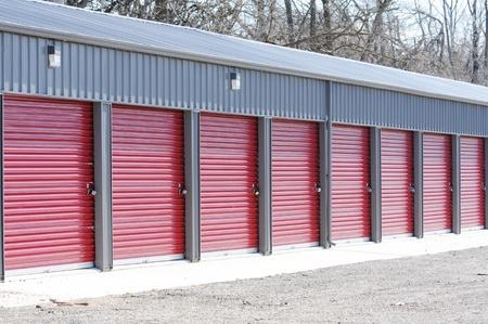 self storage: Storage Doors Stock Photo