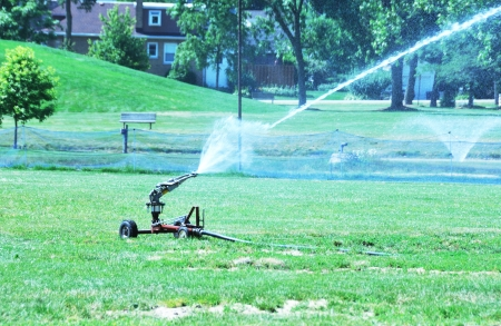 public works: Watering the Grass
