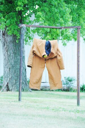 coveralls: Coveralls on the Line Stock Photo